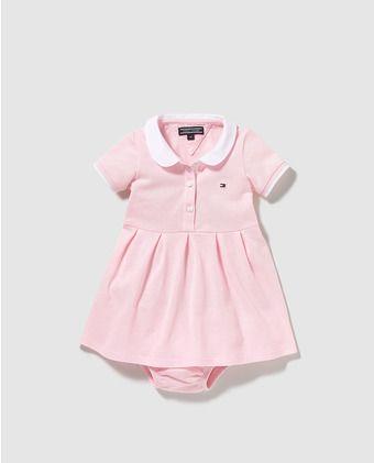 d658d0d3ae03 Vestido de bebé niña Tommy Hilfiger en rosa   Moda infantil ...