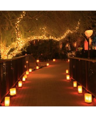Lumabase 100 Plastic Luminaria Bags White Prom Decor Wedding Lights Outdoor