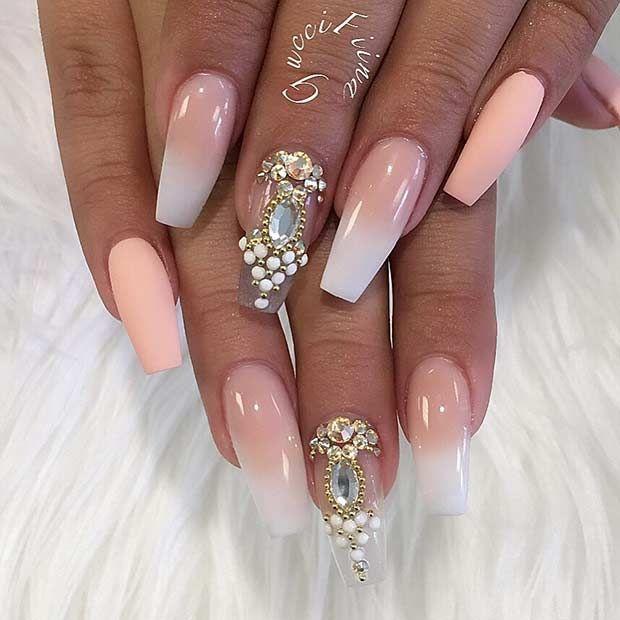 25 Fun Ways to Wear Ballerina Nails | Diseños de uñas, Uñas lindas y ...
