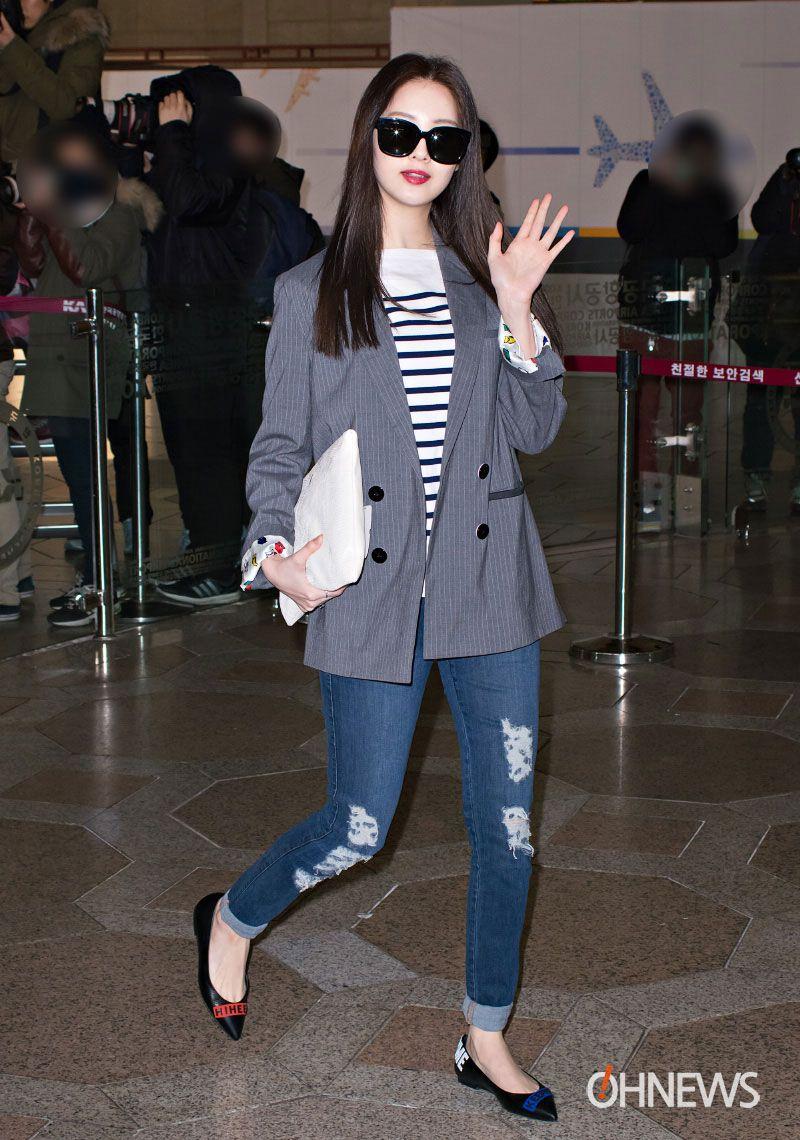 SNSD Seohyun airport fashion - March 4 | Snsd airport ...