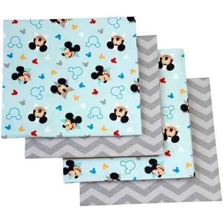 Walmart Swaddle Blankets Captivating Disney Let's Go Mickey Mouse Flannel Blanket 4Pack  Walmart 2018