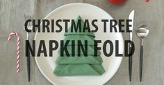 Amazing Folding Technique Turns Your Napkins into Christmas Trees #foldingnapkins