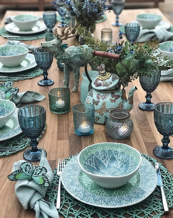 Photo of blue tablescape #gedecktertisch blue tablescape,  #bildenIdeen #Blue #gedecktertisch