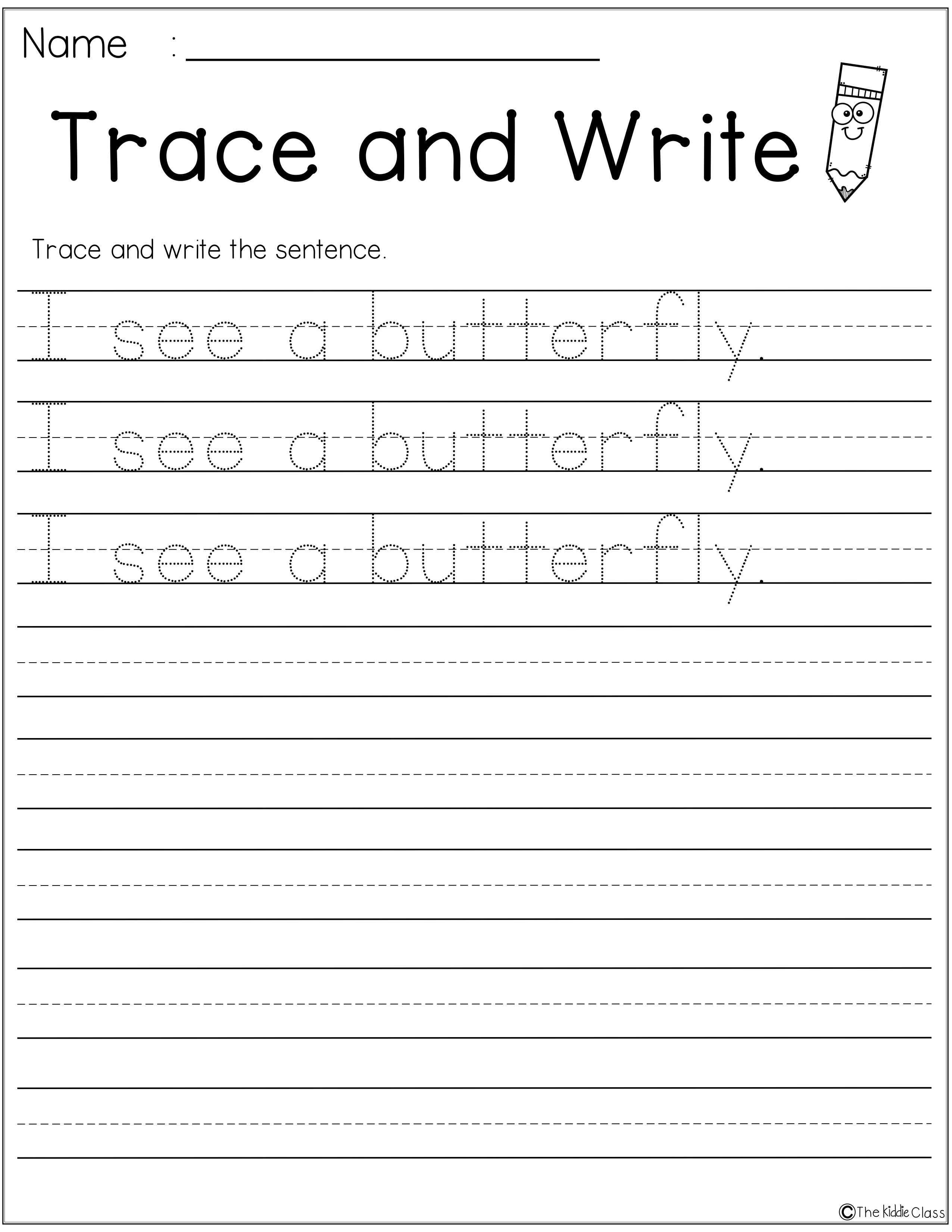 Free Letter of the Week B   Handwriting practice sentences [ 3300 x 2551 Pixel ]