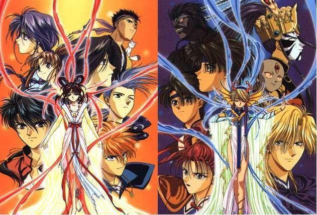Fushigi Yuugi The Misterious Play Photo Suzaku Seiryu Anime Fushigi Yugi Anime Movies