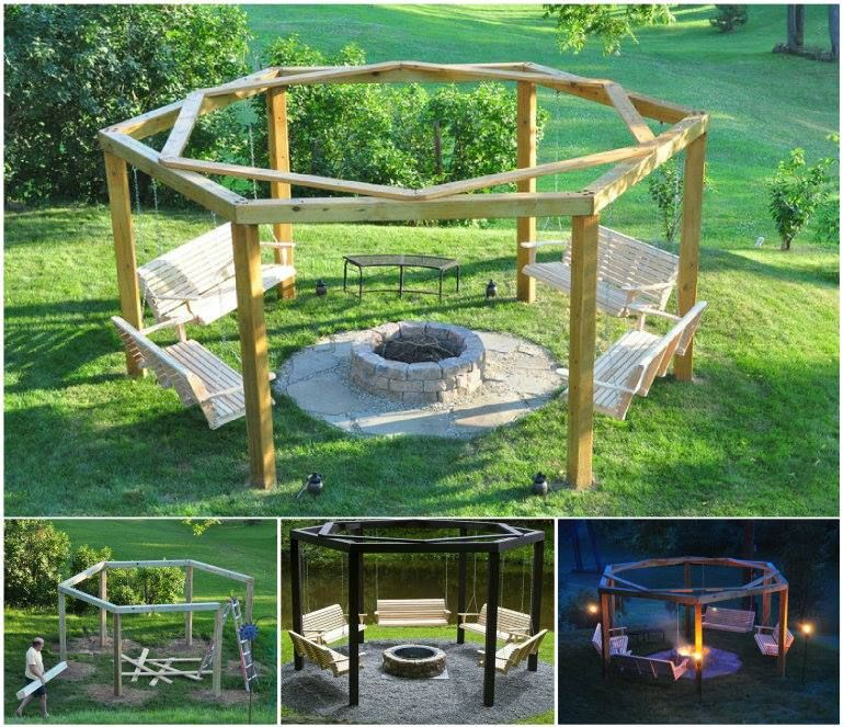 Fire Pit Surrounded By Porch Swings Watch The Video - Fire Pit Surrounded By Porch Swings Watch The Video Swings Fire