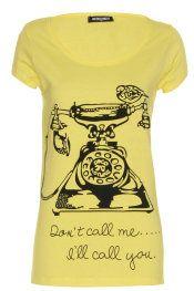Camiseta letras don´t call