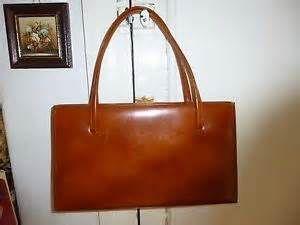 Vintage Ackery London Real Leather Handbag 50 60 S