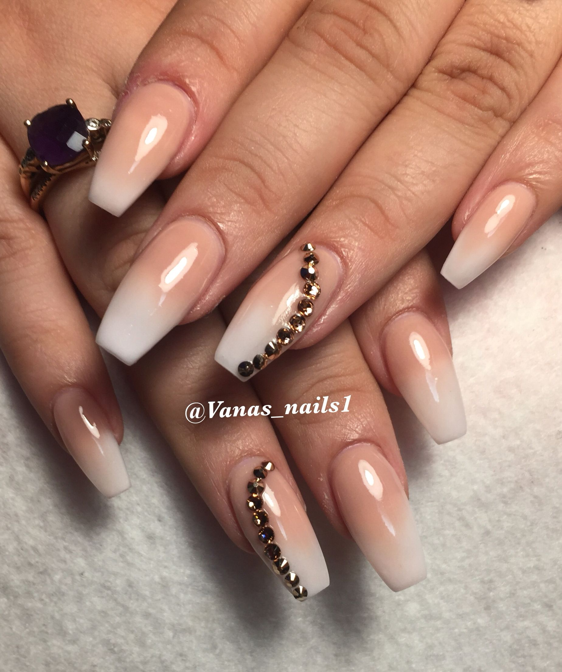 French Ombr Nail Art Design