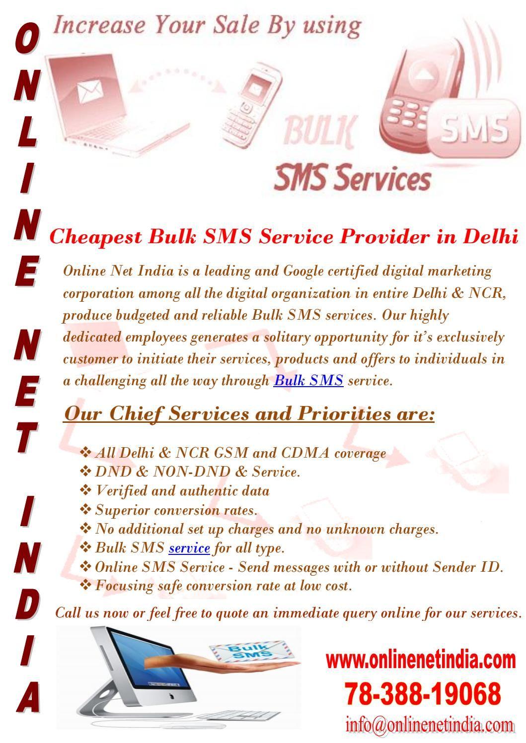 Cheapest Bulk SMS Service Provider in Delhi Sms, Sms