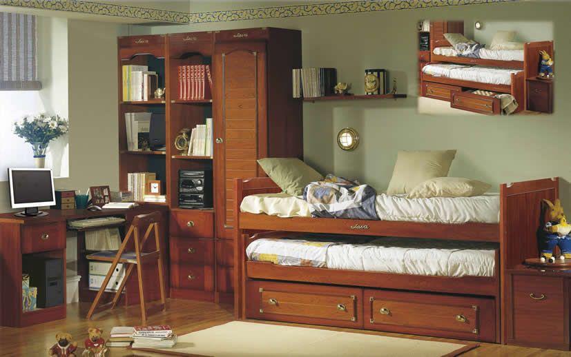 Camas compactas dormitorio juvenil barco java dormitorios for Camas compactas juveniles