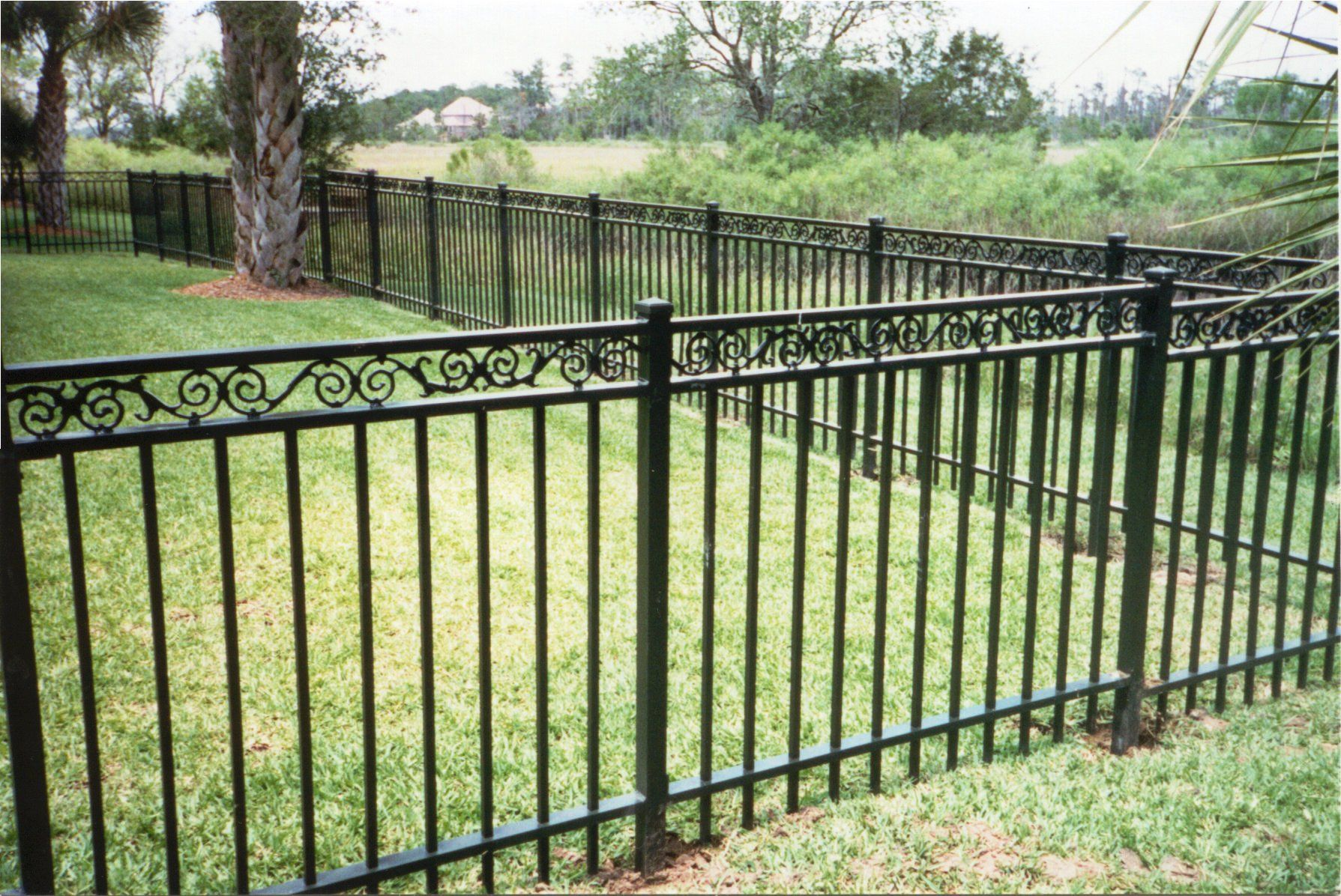 Types of fences. Wrought iron fence 73
