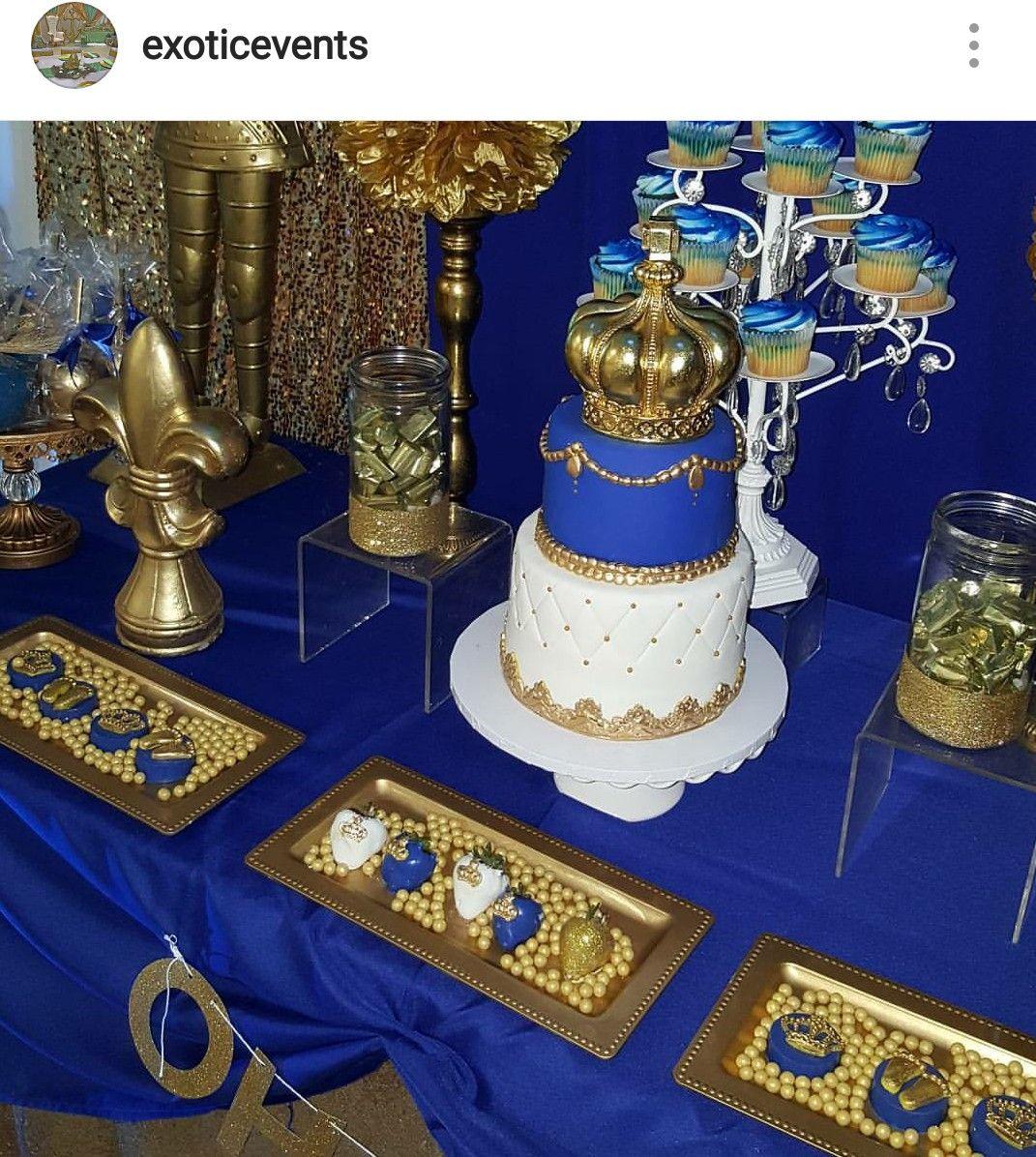 Royal Prince Baby Shower Dessert Table