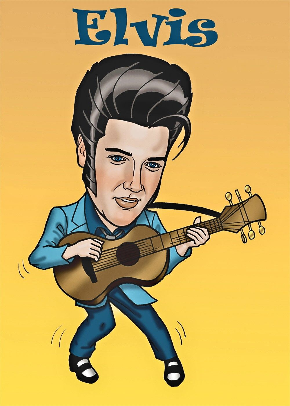 00 Elvis Caricature | Caricatures and Elvis presley