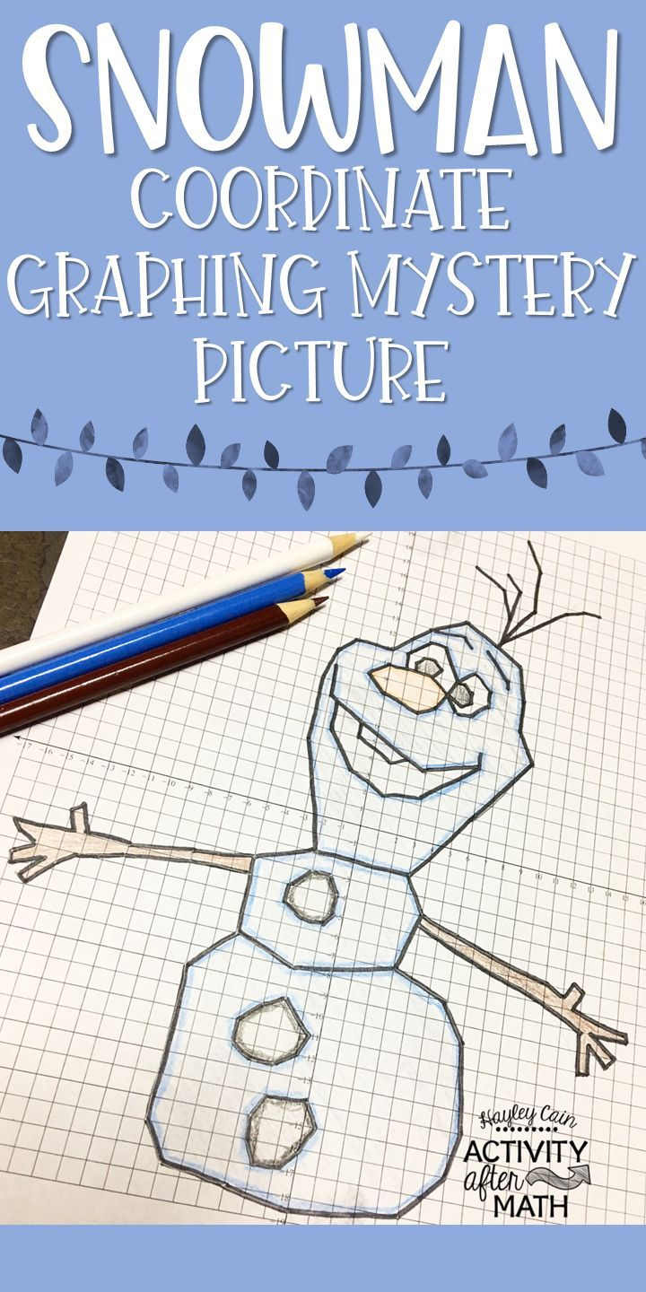 Christmas Math Snowman Coordinate Graphing Picture 1st