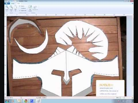 spartan helmet template!!!!!!!!! and how to make it - YouTube ...