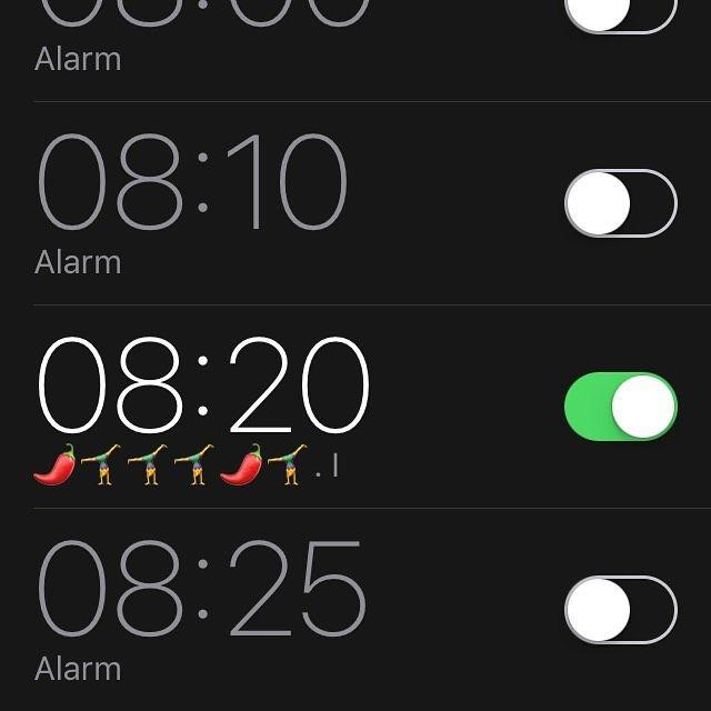 Set this alarm for myself in my sleep #chillidance #chronicpainwarrior #bpdpositive #workworkwork #spiceupyourlife #stretchitout #playallday #0820