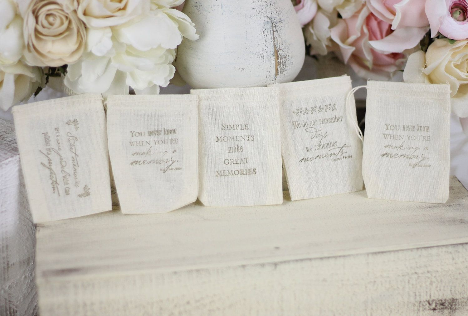 Wedding Favor Bags Love Quotes Romantic Rustic by braggingbags ...