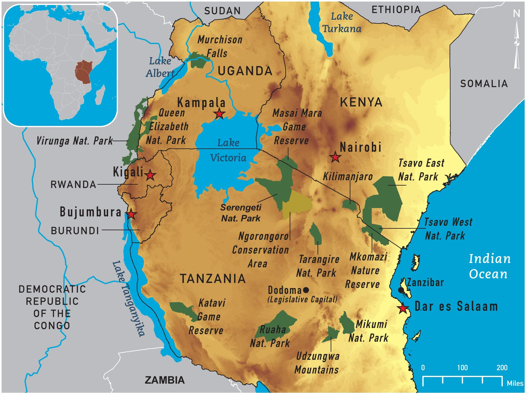 Map Of Eastern Africa Horn Of Africa Africa Pinterest Africa - Eastern african map