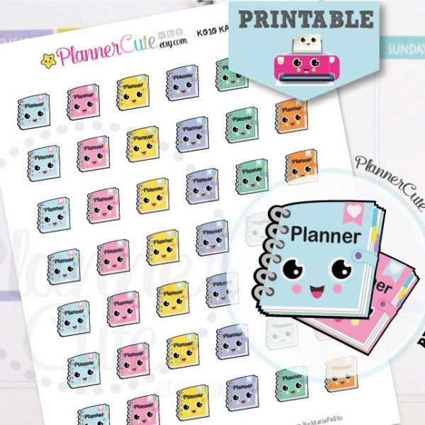 planner girl stickers kawaii printable planner stickers taking