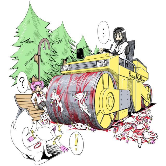 Fan Made Fan Art Anime Manga Madoka Magica Akemi Homura Kaname Madoka Kyubey Madoka Magica Magical Girl Anime Puella Magi Madoka Magica