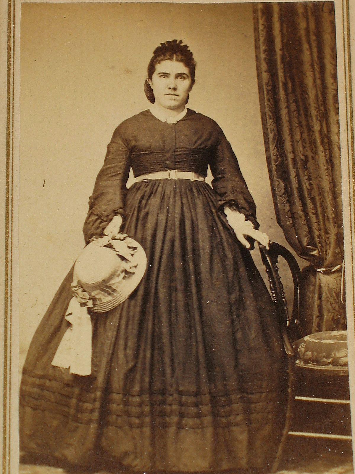 CDV Civil War Era Woman Victorian Dress Bonnet Alliance ...