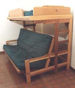 Bedroom Furniture   Futon Bunk Bed   Sofa Combo Plan in 2019