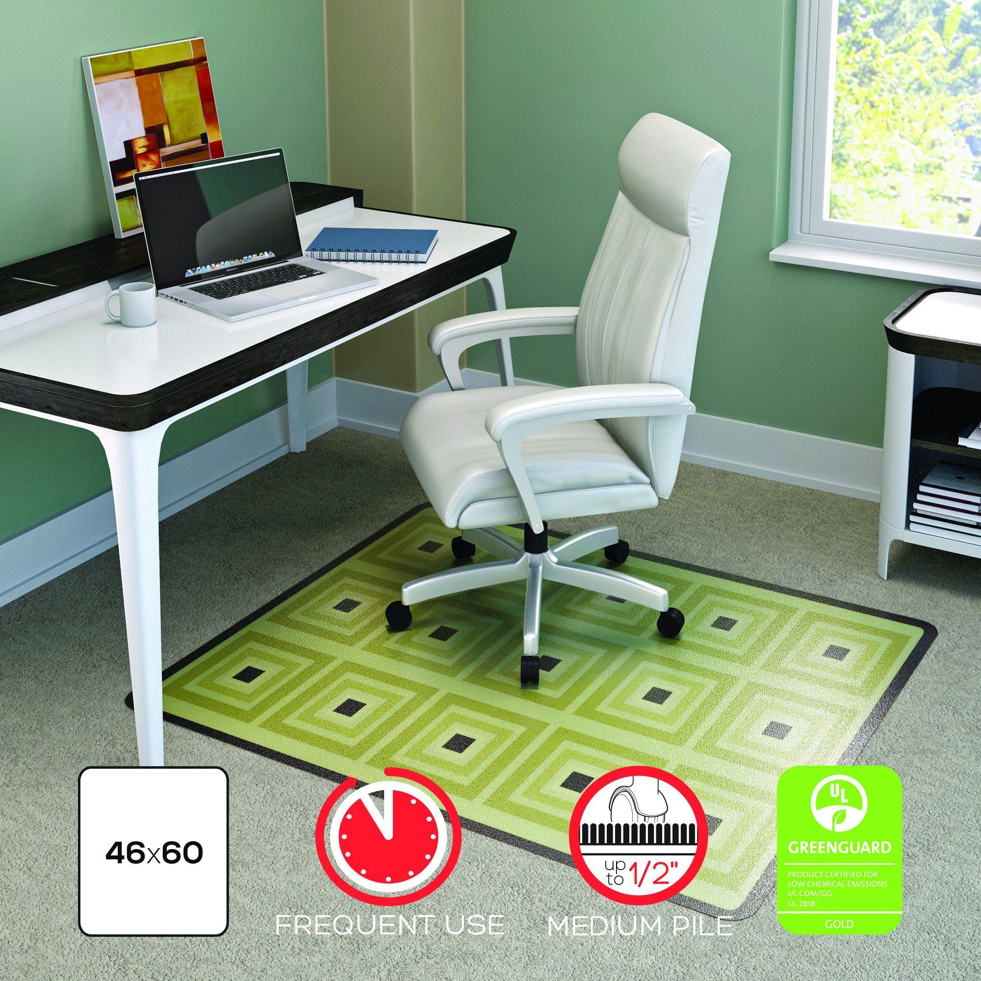 Superieur Deflecto RollaMat Decorative Chair Mat Medium Pile Carpet Use Rectangle  Straight Edge 46 X 60 Inches