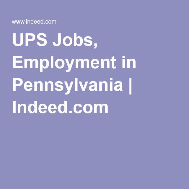 Ups Jobs Employment In Pennsylvania Employment Job Employment Opportunities