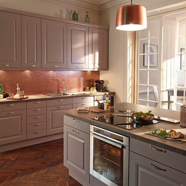 Cuisine Lilas Candide COOKE LEWIS CASTORAMA DECO CUISINE - Meuble de cuisine bas 80 cm pour idees de deco de cuisine