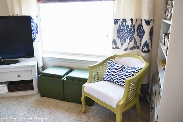 Chartreuse and White Caning Chair Finished!~~ diy chair, The dresser to a tv stand