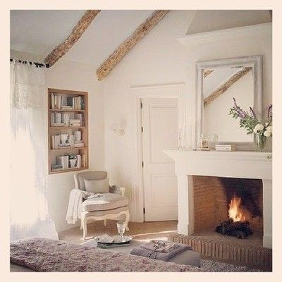 #cozy #dreamhome #dreamroom #fireplace #cream