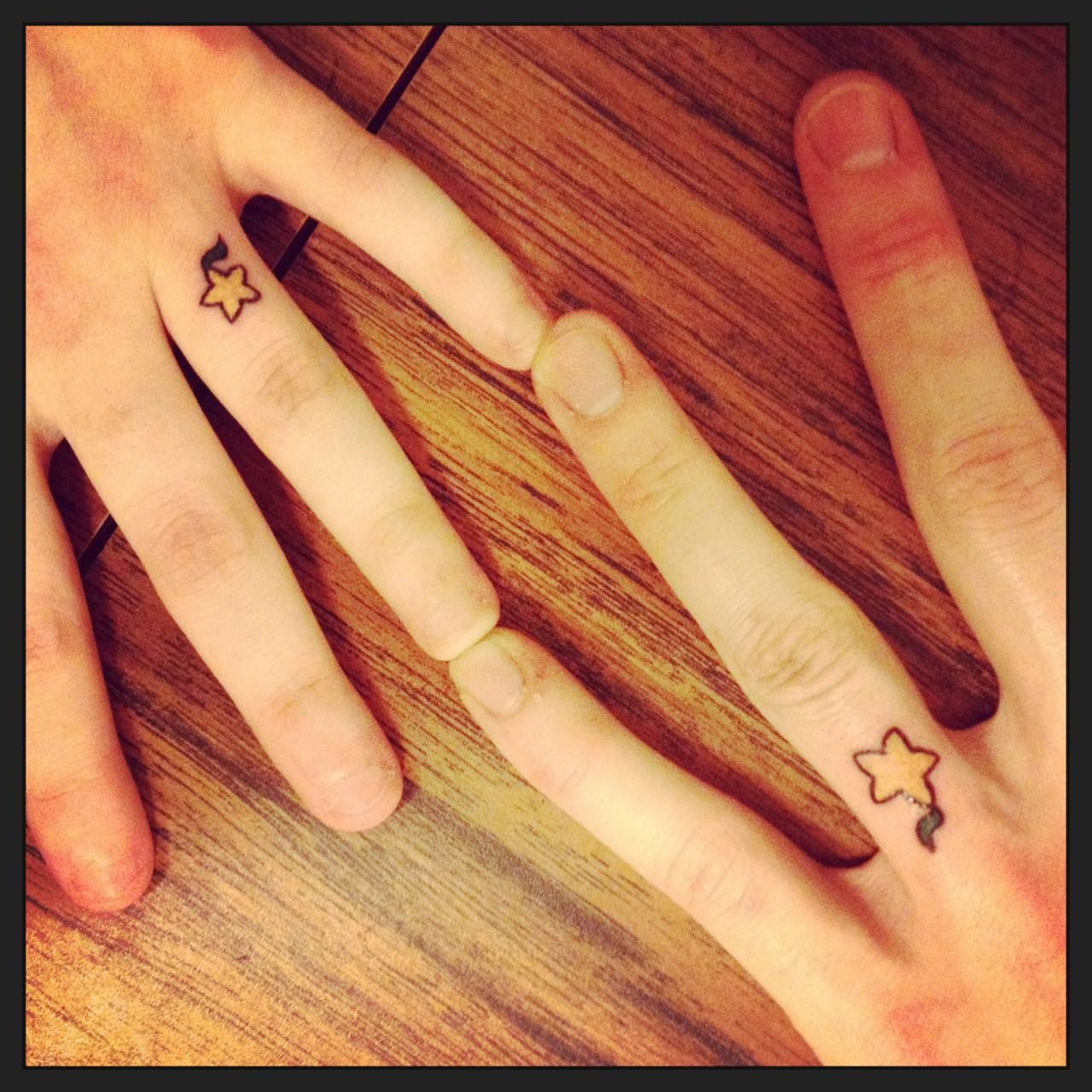 My fiancé and I got Paopu Fruit engagement ring tattoos ...