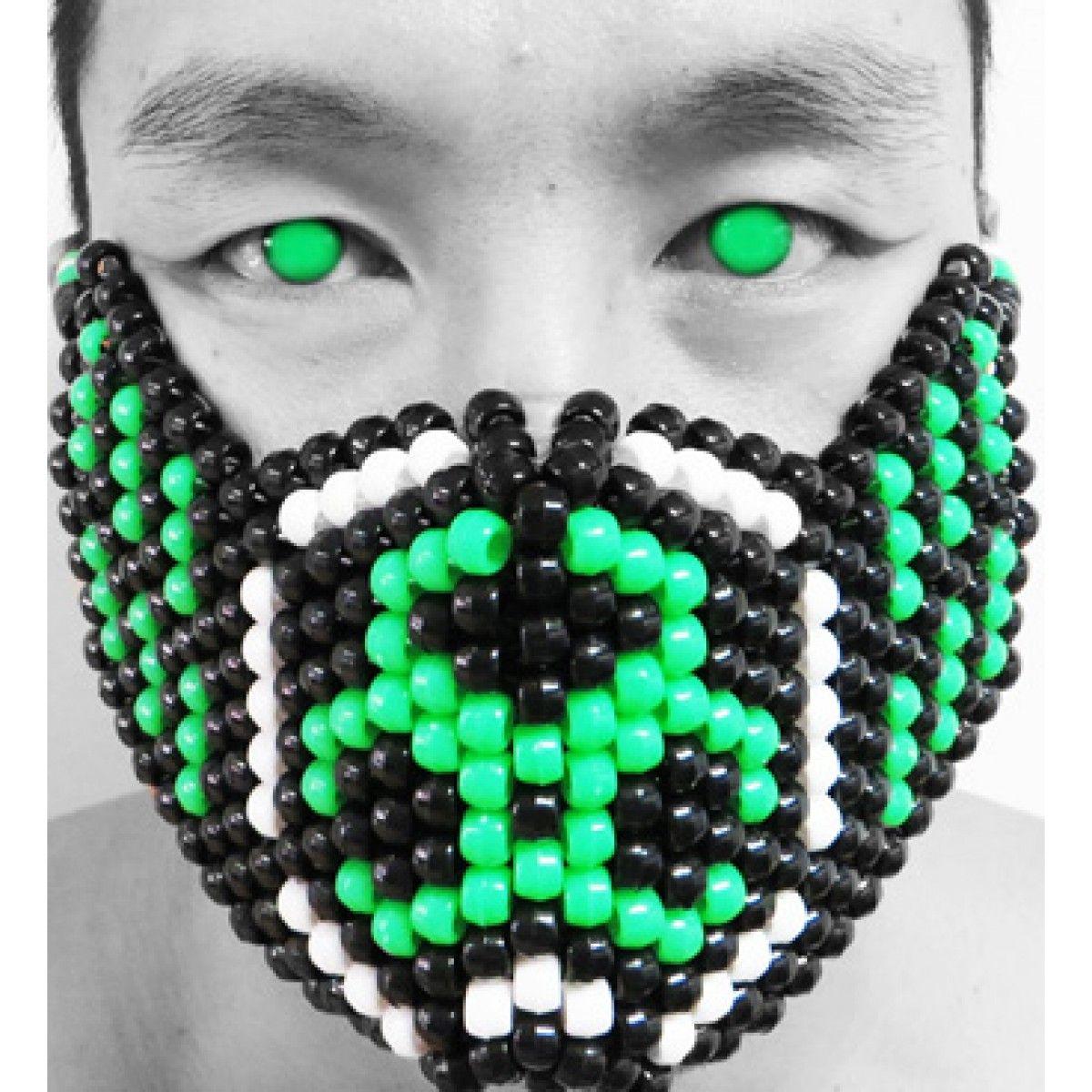 Biohazard Kandi Mask #biohazard #plur #edm #electricdaisycarnival #edc  #plurlife #