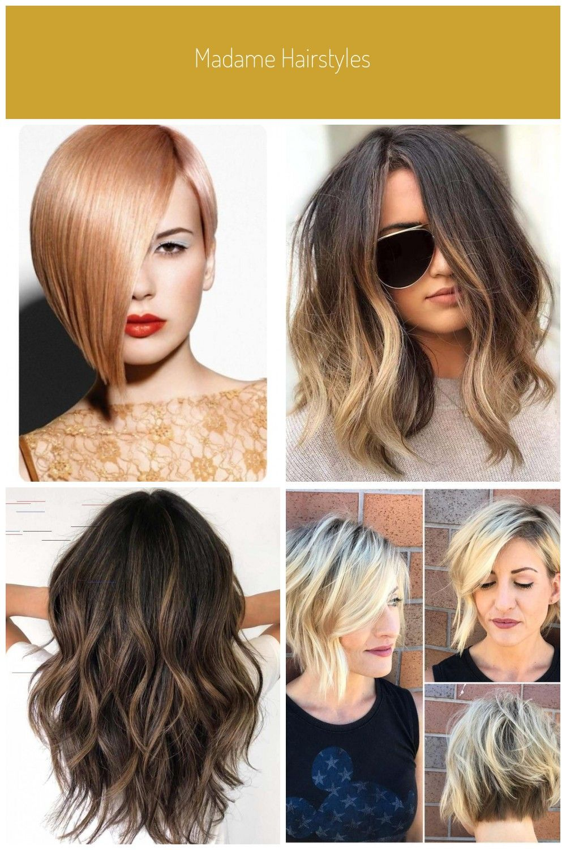 Madame Hairstyles Asymmetrische Bob Blondine In 2020 Long Hair Styles Hair Styles Beauty
