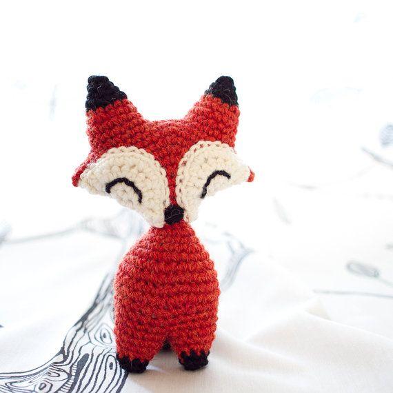 Pequeño zorro o lobo amigurumi crochet PDF patrón por FuglyCrochet ...
