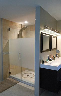 Frameless Glass Shower Doors Frosted For Privacy Or