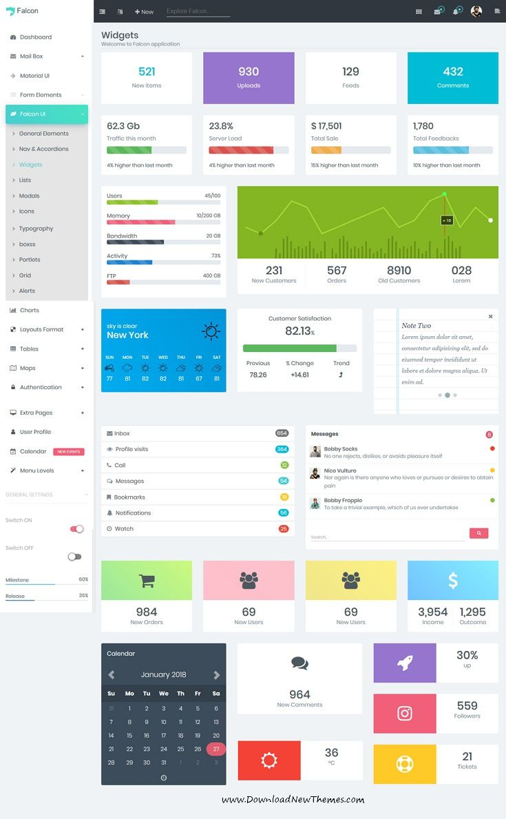 Falcon is clean and modern design responsive bootstrap