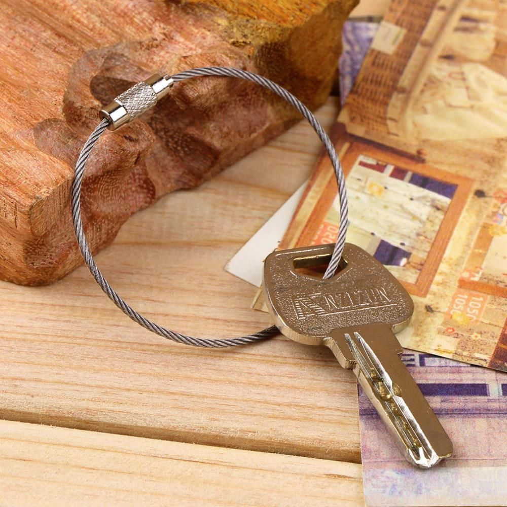 Keychain Cable Key Ring Holder Keyring for Outdoor Hiking