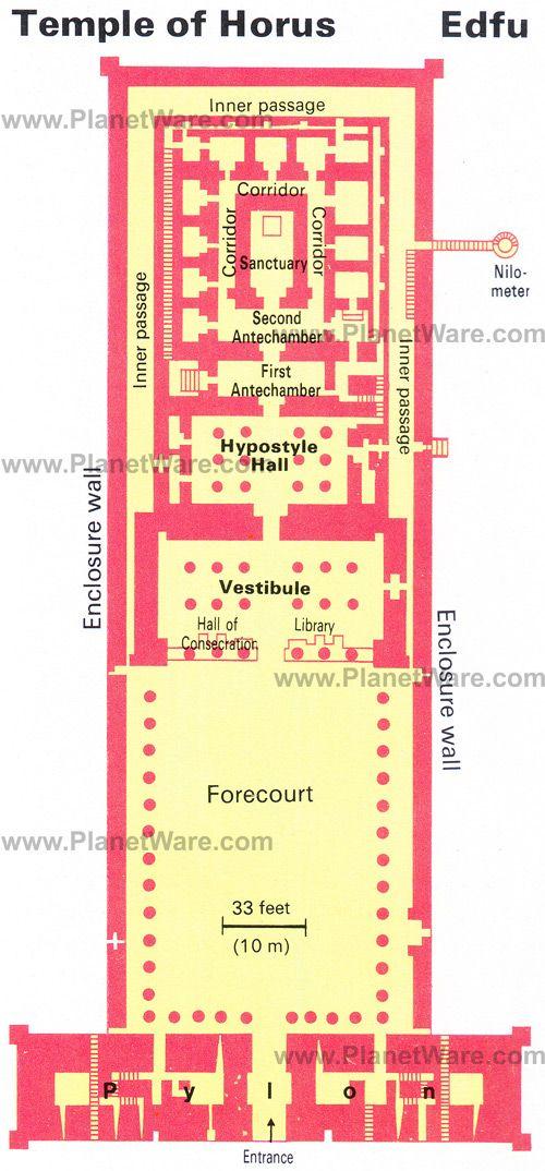 Luxor Temple Floor Plan