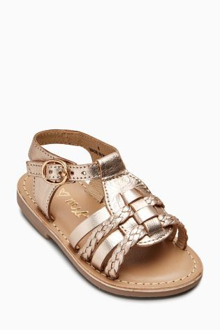 Gold Gladiator Sandals (Younger Girls)