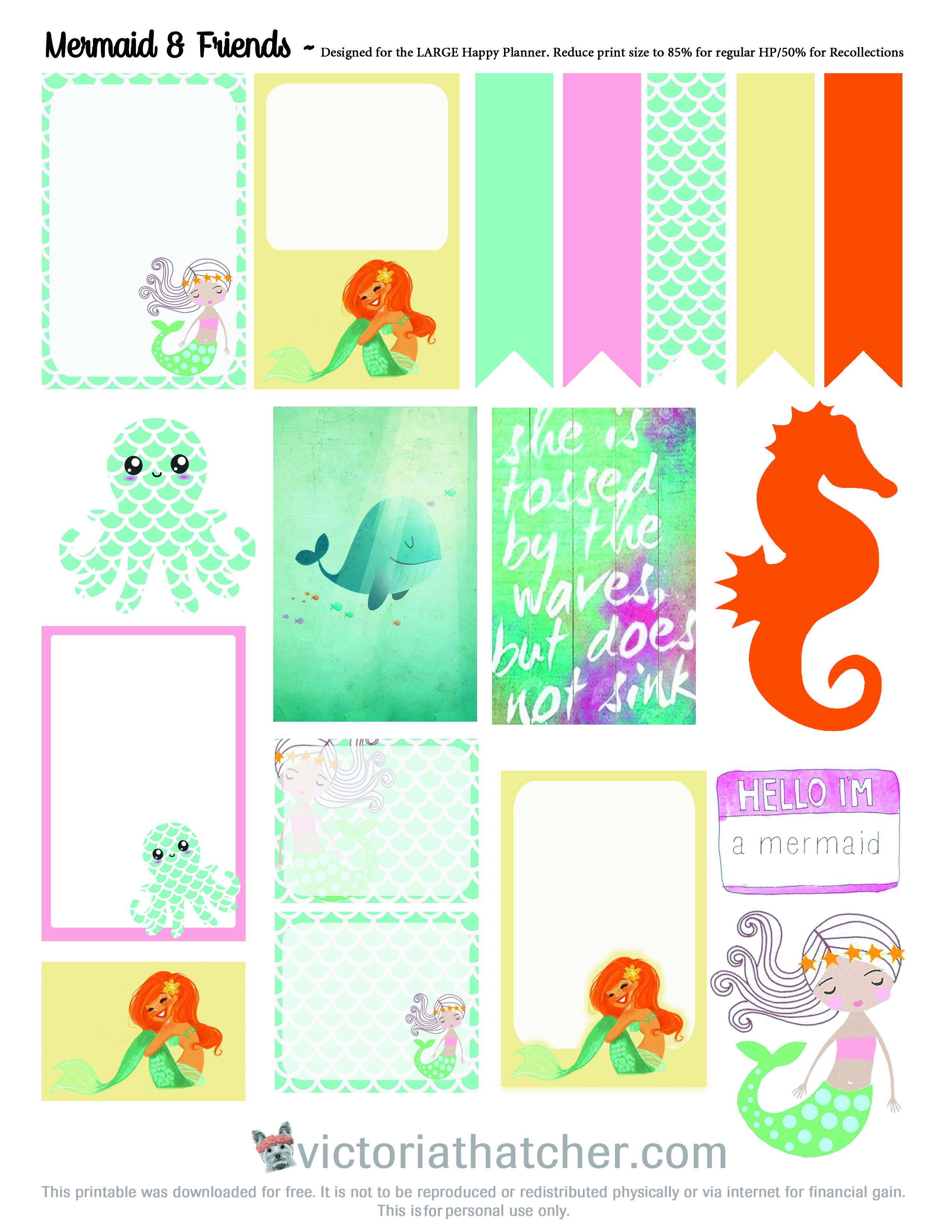 Planner & Journaling Printables Mermaid Free Planner Printable