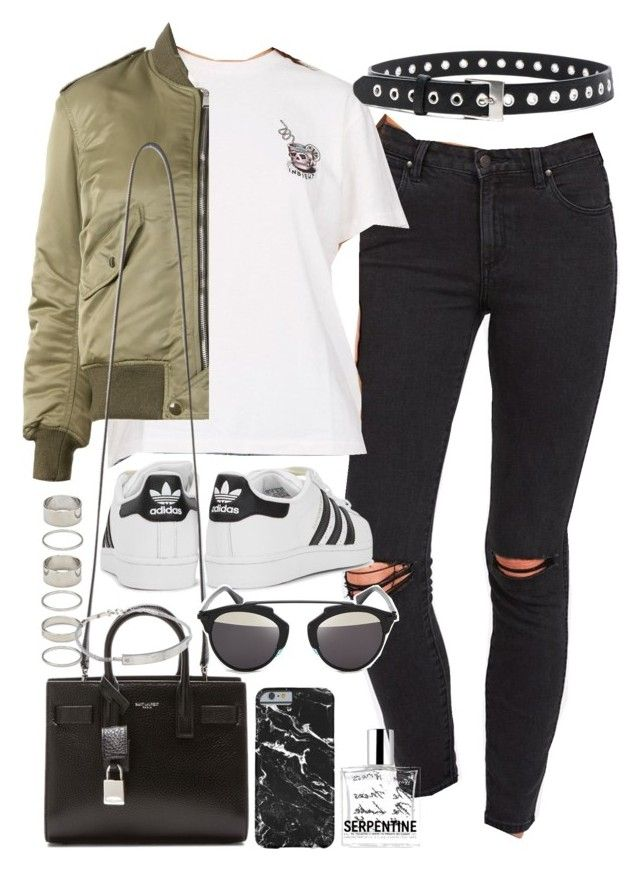 U0026quot;Outfit With Ripped Jeans And A Bomber Jacketu0026quot; By Ferned On Polyvore Featuring Rag U0026 Bone ...