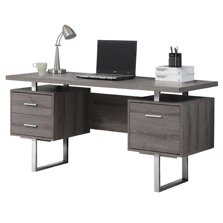 Harley Desk Gray Washed Modern Computer Desk Contemporary