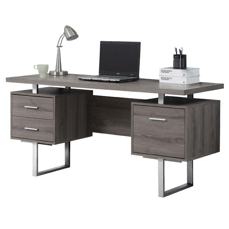 Harley Desk Gray Washed Modern Computer Desk Contemporary