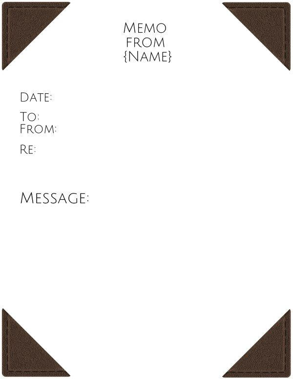 Memo Templates For Word Executive Memo Template  Chuyện Thật  Pinterest
