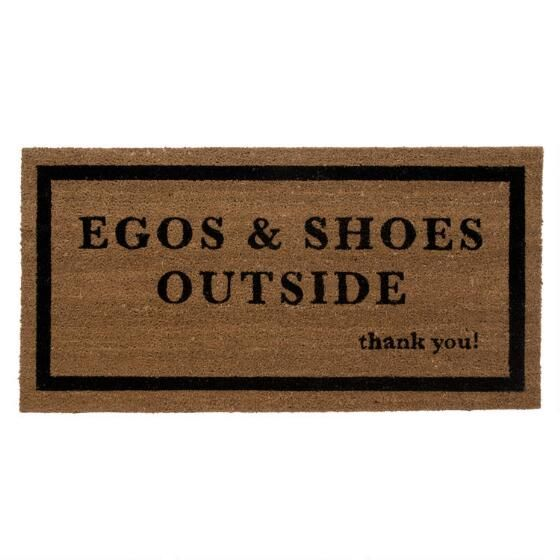 Egos and Shoes Outside Doormat Namaste Pinterest Front door - store bois tisse exterieur