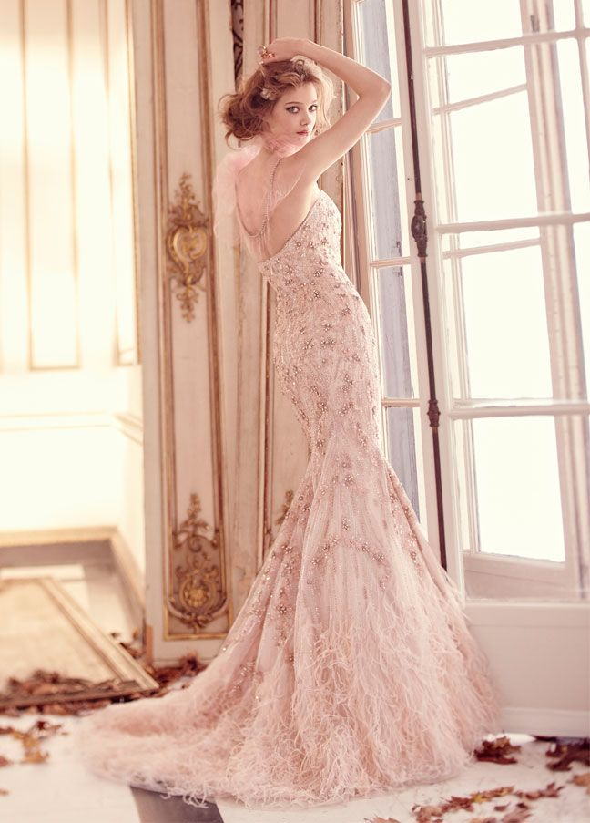 Lazaro Beaded Embroidered Strapless Sweetheart Wedding Gown Bridetobe WeddingDress