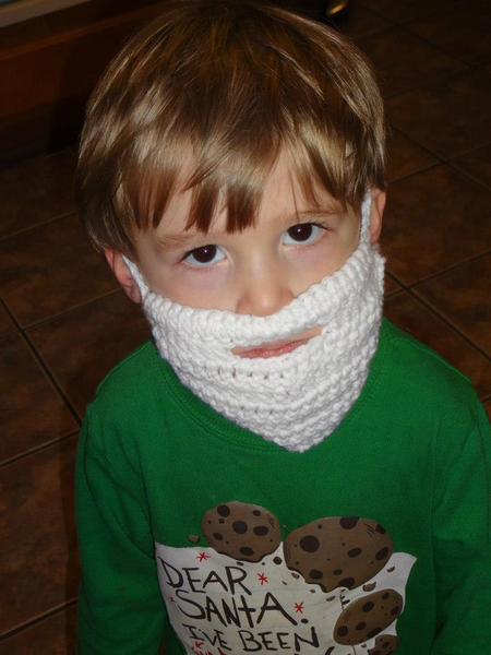 **FUN** Crochet Beard Pattern crocheted #crochetedbeards