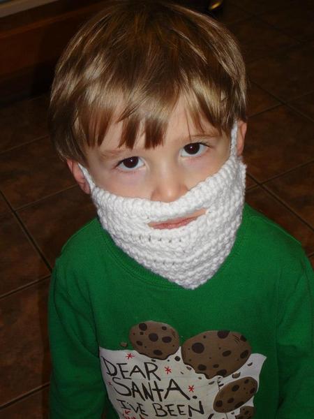 **FUN** Crochet Beard Pattern crocheted #crochetedbeards